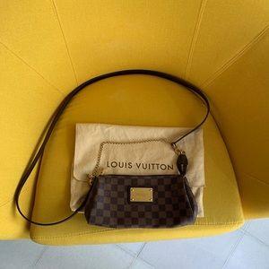 Authentic Louis Vuitton Damier Ebene Eva Purse